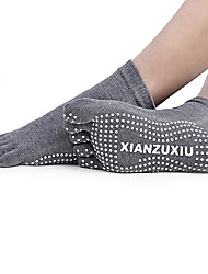 cheap -Men's Toe Socks Socks Anti-skidding/Non-Skid/Antiskid Sweat-wicking for Yoga