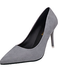 Women's Heels Spring PU Wedding Casual Dress Stiletto Heel Black Light Grey Red Blushing Pink