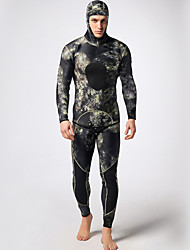 cheap -Men's Full Wetsuit 3mm Nylon / Neoprene / Lycra Diving Suit Thermal / Warm Long Sleeve - Swimming / Diving / Surfing Floral / Botanical /