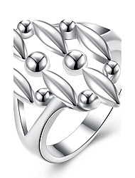 cheap -Ring Jewelry Fashion Brass Silver Plated Leaf Jewelry For Wedding Party Daily Casual 1pc