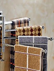 abordables -Barre porte-serviette Moderne Acier inoxydable 1 pièce - Bain d'hôtel Barre à 4 serviettes