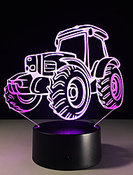 cheap -1PC Tractor Colorful Vision Stereo Led Lamp 3D Lamp Light Colorful Gradient Acrylic Lamp Night Light Vision