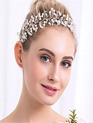 krystal efterligning perle hovedbånd hovedstykke klassisk feminin stil