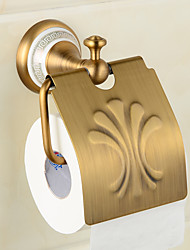 cheap -Ceramics Brass Wall-Mounted Paper Holder Bathroom Accessories Product Toilet Paper Holder