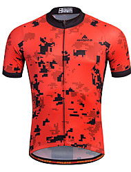 cheap -Bike/Cycling Shirt / Sweatshirt / Jersey Men's Short SleeveBreathable / Moisture Permeability / Quick Dry / Reflective