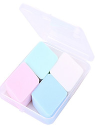 4 in 1 Pink White Blue Green Powder Puff Makeup Cotton Dry and Wet Cosmetic Beauty Care Make Up for Face