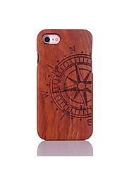 cheap -Case For Apple iPhone 5 Case iPhone 6 iPhone 7 Shockproof Pattern Embossed Back Cover Word / Phrase Hard Wooden for iPhone 7 Plus iPhone