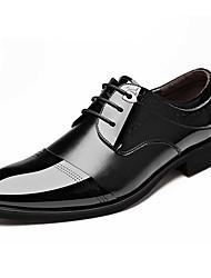 Homme Chaussures Cuir Printemps Eté Automne Hiver Confort Bottes à la Mode Oxfords Lacet Pour Décontracté Soirée & Evénement Noir Marron