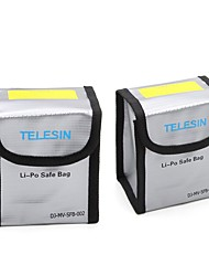 cheap -TELESIN Pack of 2 Lipo Safety Guard Fire Resistant Lipo Battery Safe Bag for DJI Phantom 3 Phantom 4 Battery Charging & Storage