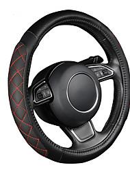 autoyouth pu de couro do carro de direção padrão de lichia preto tampa da roda com-dois lados de espessura tamanho enchimento de espuma m
