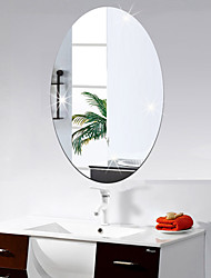 Oval DIY Mirror Wall Stickers Home Decoration Wall Decal