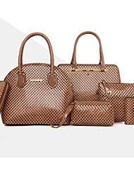 Donna Sacchetti Per tutte le stagioni PU (Poliuretano) sacchetto regola Set di borsa da 6 pezzi Borchie Ciondoli/gioielli per Formale Blu