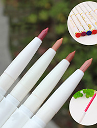 cheap -10Pcs Automatic Rotary Natural Lip Liner Long-Lasting Makeup Sexy Products Lady Beauty Red Lip Pencil Waterproof