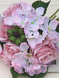 1Pc The Rose Bride Bridesmaid Wedding Flower Bouquets Hydrangea Living Room Table Home Furnishing Vase