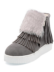 cheap -Women's Shoes Fur Fleece Winter Fall Comfort Snow Boots Boots Hiking Shoes Platform Round Toe Zipper Tassel for Athletic Casual Office &