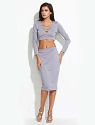 abordables -Mujer Camiseta - Un Color Falda