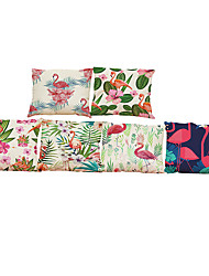 Set of 6 Flamingo pattern Linen Pillowcase Sofa Home Decor Cushion Cover