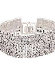 Da donna Bracciali tennis Zirconi imitazione diamante Lega Di tendenza Gioielli Bianco Dorato Gioielli 1 pezzo
