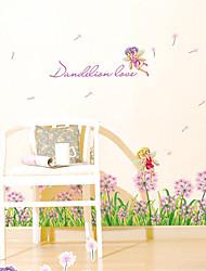 Недорогие -Мода Цветы Слова и фразы Наклейки Простые наклейки Декоративные наклейки на стены, Бумага Украшение дома Наклейка на стену Стена