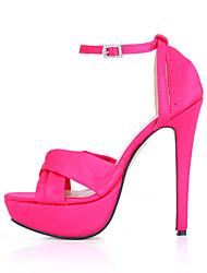 Women's Sandals Summer Comfort Silk Wedding Party & Evening Dress Stiletto Heel Black Pink Ivory