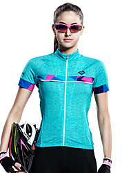 cheap -SANTIC Cycling Jersey Women's Short Sleeves Bike Jersey Top Bike Wear Quick Dry Ultraviolet Resistant Breathable Sweat-wicking Patchwork