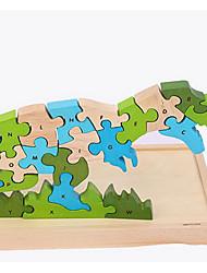 economico -Costruzioni Puzzle Giocattoli Dinosauro Animali Originale Legno Da ragazzo Da ragazza 1 Pezzi