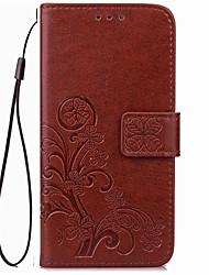 Für Kreditkartenfächer Geldbeutel Hülle Handyhülle für das ganze Handy Hülle Einheitliche Farbe Weich PU - Leder für SonySony Xperia X
