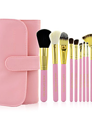 cheap -10 Makeup Brush Set Horse Synthetic Hair Nylon Pony Goat Hair Limits Bacteria Eye Face Lip