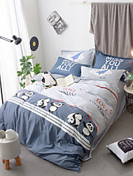 Black and white panada Duvet Cover Sets 100% Cotton Bedding Set Queen/Double/Full Size
