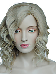 Women Synthetic Wig Capless Curly Blonde Side Part Natural Wig Costume Wigs