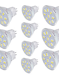 cheap -10pcs 2W 150 lm GU4(MR11) LED Spotlight MR11 9 leds SMD 5733 Decorative Warm White Cold White 3000/6000K DC 30V