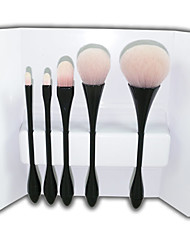 YZIMENG® 5pcs Black Makeup Brush Set Blush/Eyeshadow/Concealer/Powder/Brow Synthetic Hair Full Coverage Beauty Care Make Up for Face