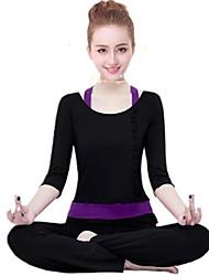 economico -Yoga Set di vestiti/Completi Traspirante Comodo Elastico Abbigliamento sportivo Per donnaYoga