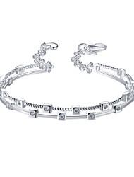 abordables -Bracelet Manchettes Bracelets Bracelets de tennis Zircon Cuivre Plaqué argent Amitié Turc Mode Vintage Bohême Style Punk Hip-HopOccasion