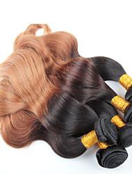 Недорогие -3 шт объемная волна Ombre волос оптовой бразильские волосы, не путать, отсутствие линять и мягкие бразильские волосы Ombre