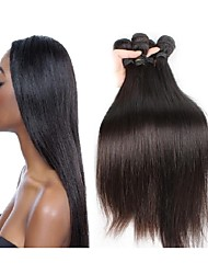 cheap -Human Hair Remy Weaves Straight Brazilian Hair 400 g More Than One Year