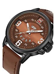 Недорогие -Муж. Спортивные часы Нарядные часы Модные часы Наручные часы Кварцевый Календарь Натуральная кожа Группа С подвесками Повседневная Люкс
