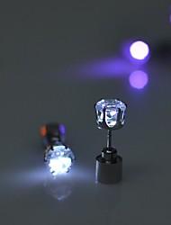 Недорогие -2pcs привело серьги свет до короны светящиеся кристалл нержавеющей уха падение уха серьги ювелирные изделия