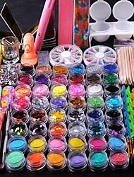 cheap -Nail Decorations Fine Metal Glitter Nail Strip 2000pc/bag Mixed Rhinestone for Nail Tips Tooks Kit Cuticle Pusher Nail