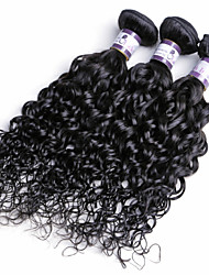 cheap -Indian Hair Curly / Curly Weave Natural Color Hair Weaves 3 Bundles Human Hair Weaves Human Hair Extensions