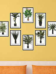 Plant Photo Frame Drawing  PVC  Decorative Skin Wall Stickers for The Office Or Living Room