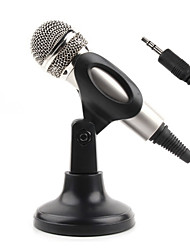 cheap -Hot sale  Audio Sound Recording Condenser Microphone with Shock Mount Holder Clip with locking knob 3.5mm aux jack Mobile phone microphone