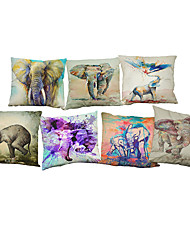 cheap -Set of 7 Ink elephant pattern  Linen Pillowcase Sofa Home Decor Cushion Cover
