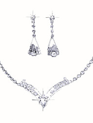 cheap -Women's Jewelry Set Earrings / Necklace - Stylish Silver Jewelry Set For Wedding / Party / Special Occasion