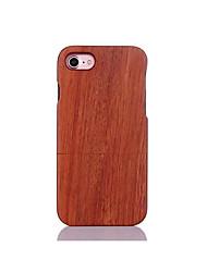 Недорогие -Для Защита от удара Рельефный Кейс для Задняя крышка Кейс для Один цвет Твердый Дерево для AppleiPhone 7 Plus iPhone 7 iPhone 6s Plus/6