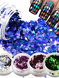 1 box New 2017 Shiny Rhombus Rainbow Colorful DIY Nail Sequin Glitter Slice Paillette Nail Art 3d Mixed Beauty Decorations LS09-16