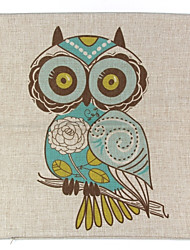 cheap -RayLineDo® Linen Cotton Square Throw Pillow Cover Owl Decorative Pillow Case CTJZ21-PC-BE