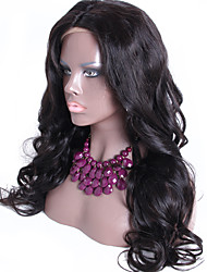 Wavy Silk Top Full Lace Human Hair Wigs For Women Silk Base Lace Wigs With Baby Hair Indian Hair Full Lace Wig