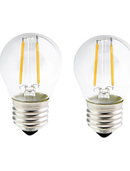 cheap -ONDENN 2pcs 2W 200lm E26 / E27 LED Filament Bulbs G45 2 LED Beads COB Dimmable Warm White 110-130V 220-240V