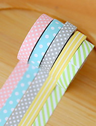 cheap -Cute Decorative Paper Tape Set Of 5 For School / Office DIY Decoration